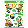 Beistle Leprechaun/Shamrock Clings (Pack of 12) - St. Patricks Day Party Decorations and Accessories, St. Patricks Day Party Supplies
