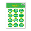 Party Supplies - St. Patrick's Day Pub Fun Stickers