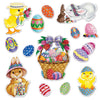 Beistle Easter Basket & Friends Cutouts (12 packs) - Easter Party Supplies