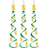 "Casino Party Supplies - ""$"" Whirls"