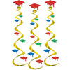 Graduation Party Supplies - Grad Cap Whirls