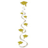 Graduation Party Supplies: Printed Grad Cap Whirls gold