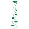 Graduation Party Supplies: Printed Grad Cap Whirls green