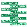 Hollywood Party Supplies - NYC Street Sign Cutouts
