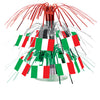 Beistle Italian Flag Mini Cascade Centerpiece (Pack of 12) - International Party Themes, Italian Themed Decorations