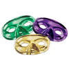 Metallic Half Masks - assorted gold, green, purple
