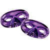 Mardi Gras Party Supplies - Metallic Half Mask - purple