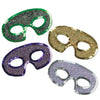 Sequin-Lame Half Masks - assorted colors