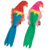 Beistle Feathered Parrots (Pack of 6) - Luau Party Accessories, Luau Party Supplies, Luau Party Decorations