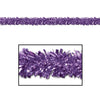 Fire Resistant Gleam 'N Fest Festooning Garland - purple