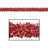 Fire Resistant Gleam 'N Fest Festooning Garland - red