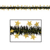 Party Decorations - Fire Resistant Metallic Star Garland