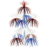 Firework Chandelier red, white, blue