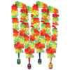 Fiesta Lei with Maraca Medallion multi-color neon