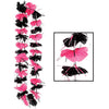 Beistle Pink & Black Party Lei (Pack of 12) -  Luau Party Leis, Luau Party Supplies, Luau Stuff to Wear