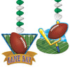 Beistle Game Day Football Danglers (12 packs) - Football Party Decorations, Football Party Supplies