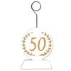 Gold Glittered ''50'' Photo/Balloon Holder