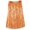 Adult Artificial Grass Hula Skirt with Floral Waistband - natural