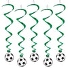 Beistle Soccer Ball Whirls (6 packs) - World Cup and Soccer Party Supplies