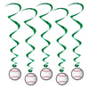 Sports Party Supplies - Baseball Whirls
