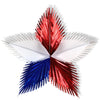 Patriotic Leaf Starburst - red, white, blue