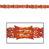 Metallic Garland - gold, orange, red