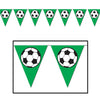 Sports Party Supplies - Soccer Ball Pennant Banner