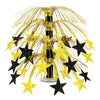 Star Cascade Centerpiece - black & gold