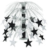 Star Cascade Centerpiece - black & silver