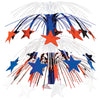 Star Cascade Centerpiece - red, white, blue
