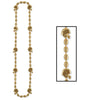 Football Party Supplies - Football Beads - gold