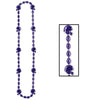 Football Party Supplies - Football Beads - purple