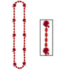 Football Party Supplies - Football Beads - red