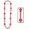 Sports Party Supplies - Basketball Beads - red