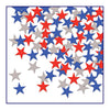 Fanci-Fetti Stars - red, silver, blue