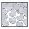 Party Decorations - Fanci-Fetti Hearts - silver