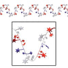 Gleam 'N Flex Star Garland - red, silver, blue