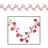 Party Decorations - Gleam 'N Flex Heart Garland red