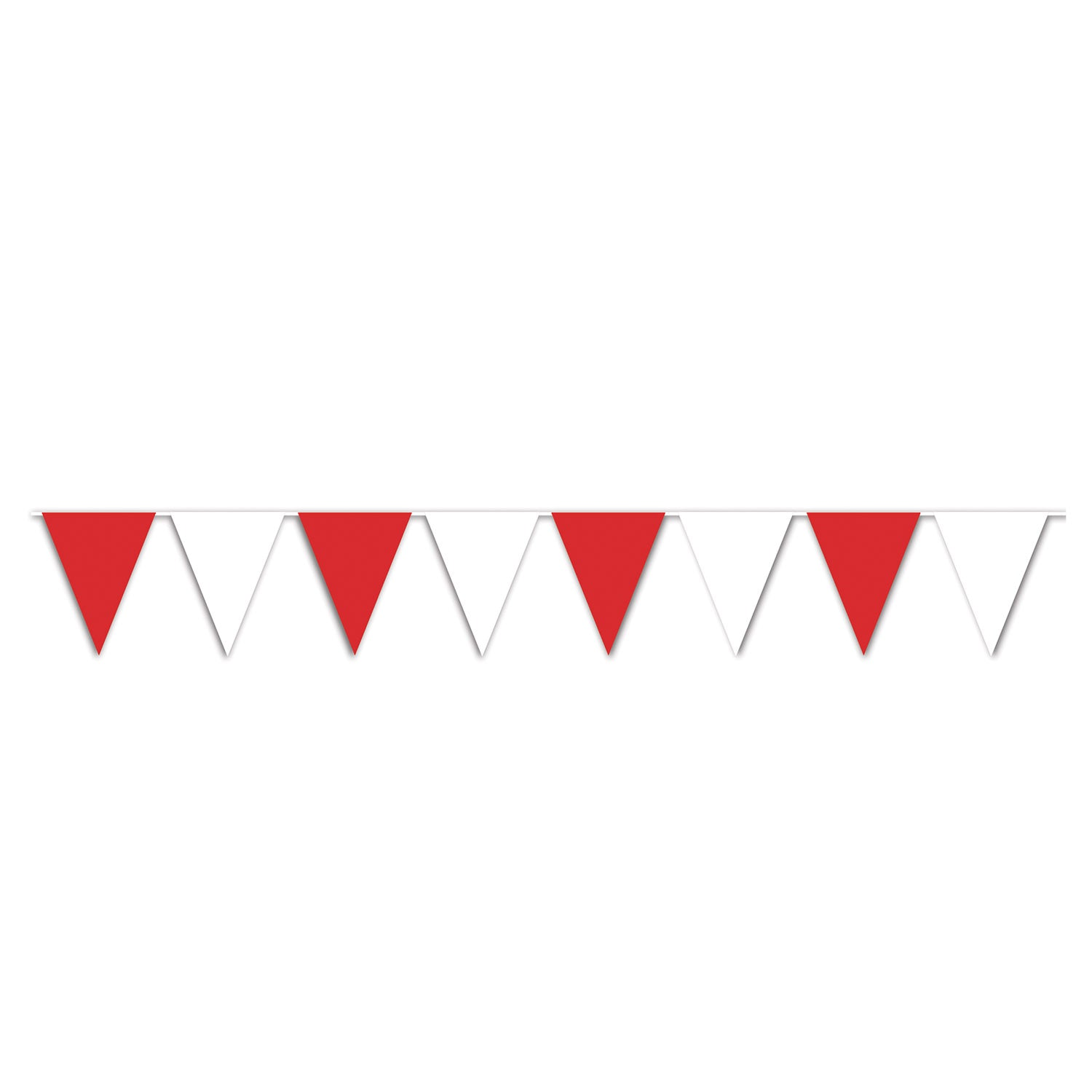 12/Case) Beistle Red & White Pennant Banner - Bulk Party Supplies