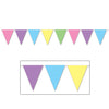 Pastel Pennant Banner, party supplies, decorations, The Beistle Company, Spring/Summer, Bulk, Spring-Summer Theme, Miscellaneous Spring and Summer Themed Party Supplies