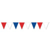 Red, White & Blue Pennant Banner, party supplies, decorations, The Beistle Company, Patriotic, Bulk, Holiday Party Supplies, 4th of July Political and Patriotic, 4th of July Party Decorations, 4th of July Signs/Banners