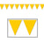 Indoor/Outdoor Pennant Banner Party Decoration (12/Case)