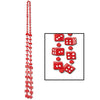 Casino Party Supplies: Dice Beads red