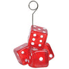 Beistle Dice Photo/Balloon Holder (Pack of 6) - Casino Party Theme