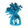 Metallic Wrapped Balloon Weight - lt blue