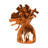 Balloon Weights - Metallic Wrapped Balloon Weight - orange