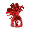 Balloon Weights - Metallic Wrapped Balloon Weight - red