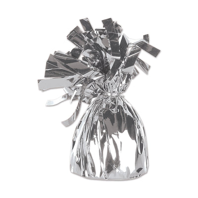 Balloon Weights - Metallic Wrapped Balloon Weight - silver