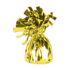Metallic Wrapped Balloon Weight - yellow cellophane