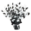 Graduate Cap Gleam 'N Burst Centerpiece - black & white